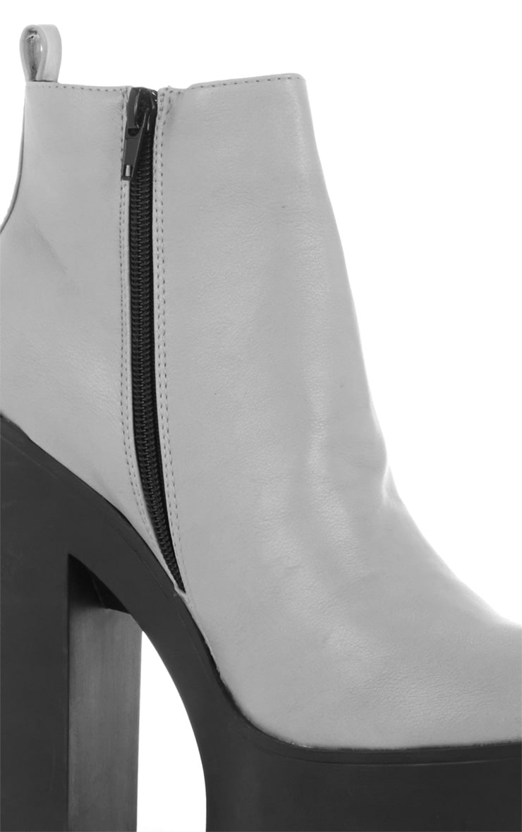 Asma Grey Elasticated Chunky Boots 3