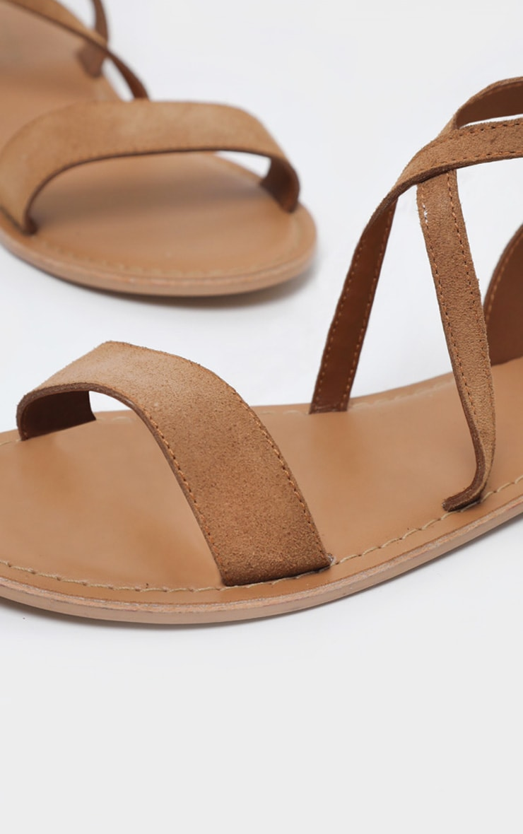 Tan Basic Leather Sandal 3