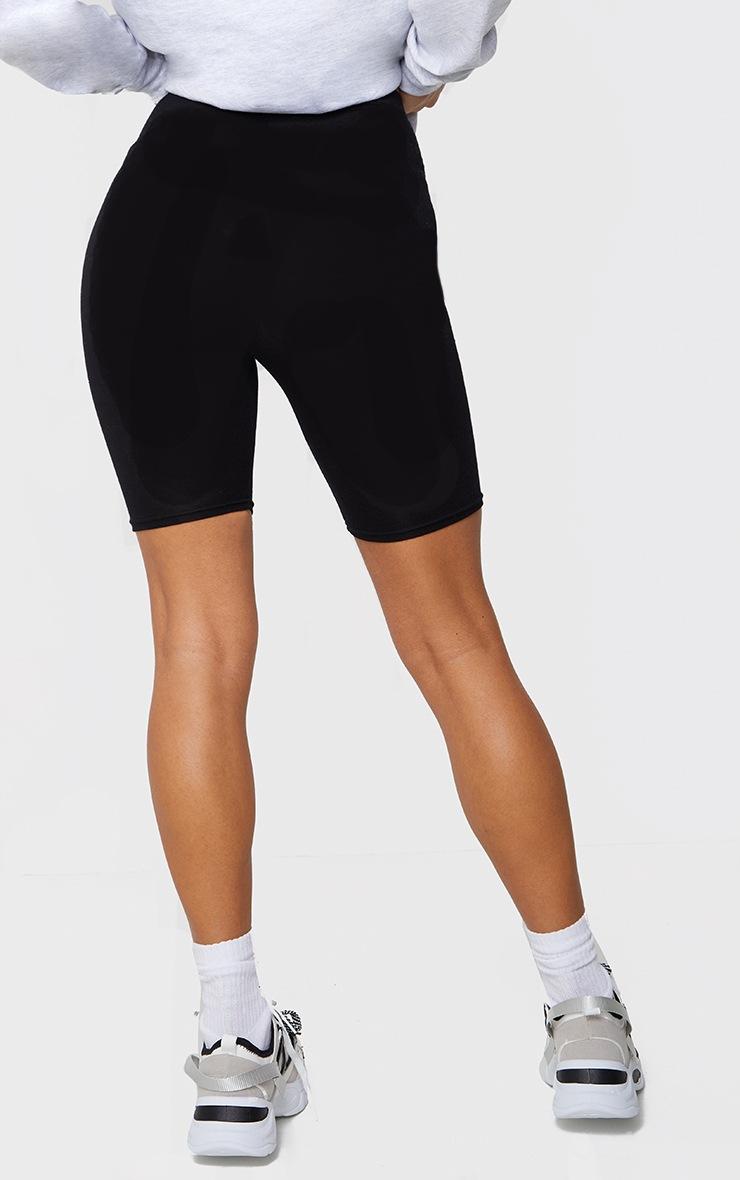 Basic Black Cotton Blend Cycle Shorts 3