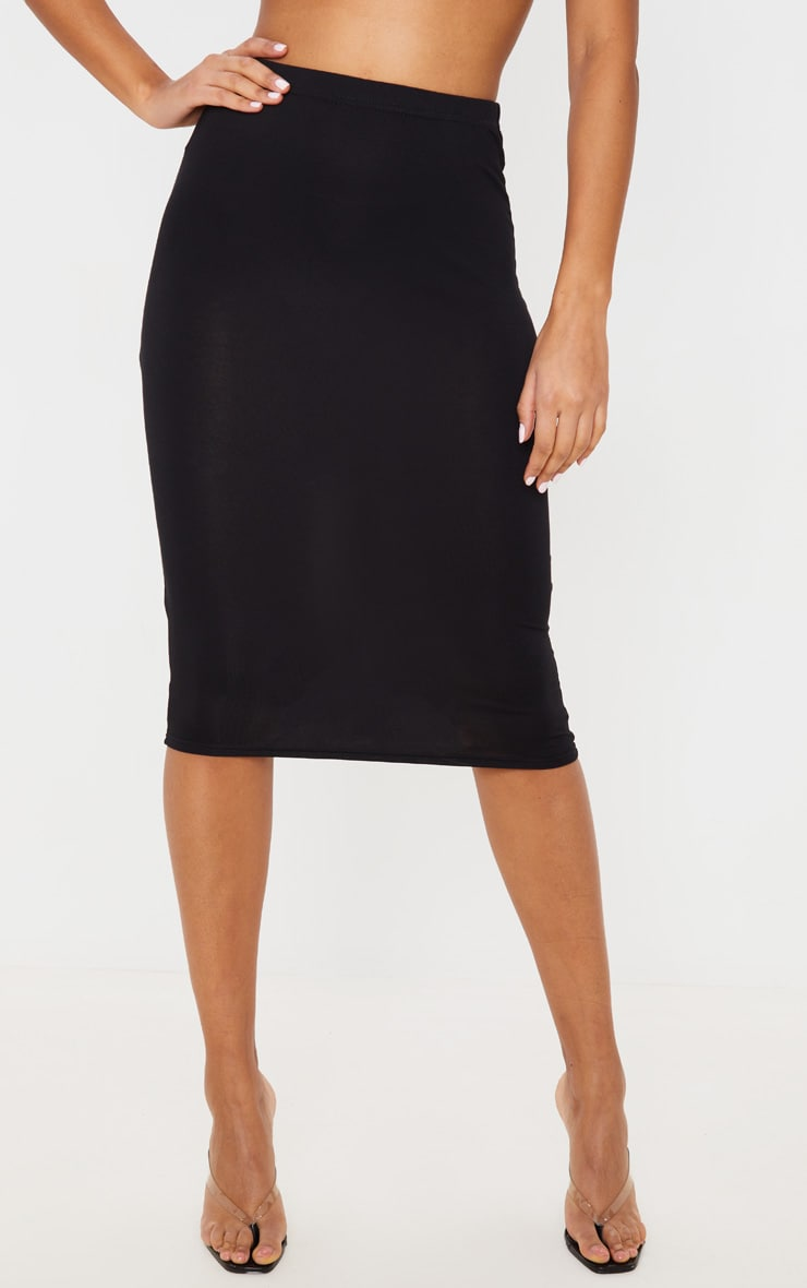 Basic Black Midi Skirt 3