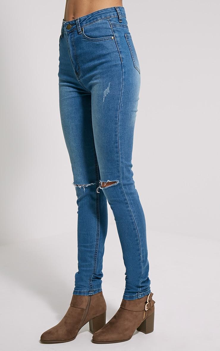 Dayna Blue Ripped Skinny Jean 3