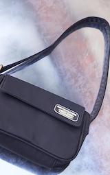 PRETTYLITTLETHING Branded Archive Black Shoulder Bag 3