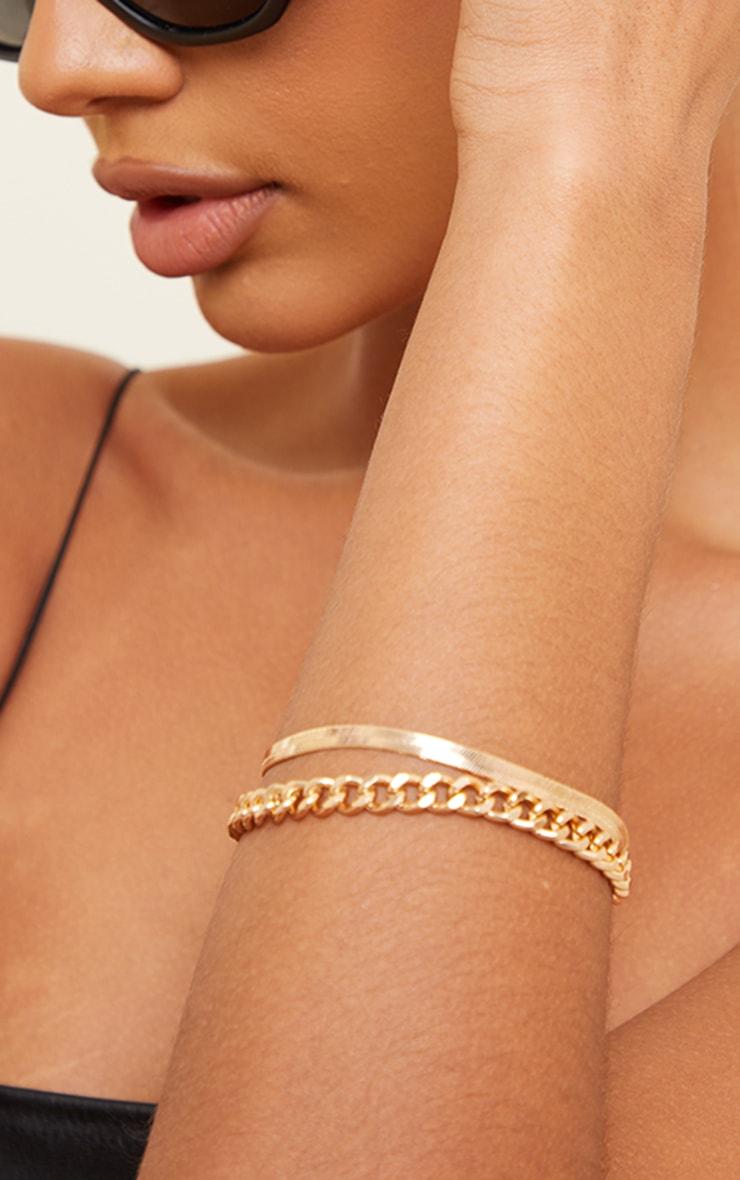 Gold Assorted 2 Pack Bracelet