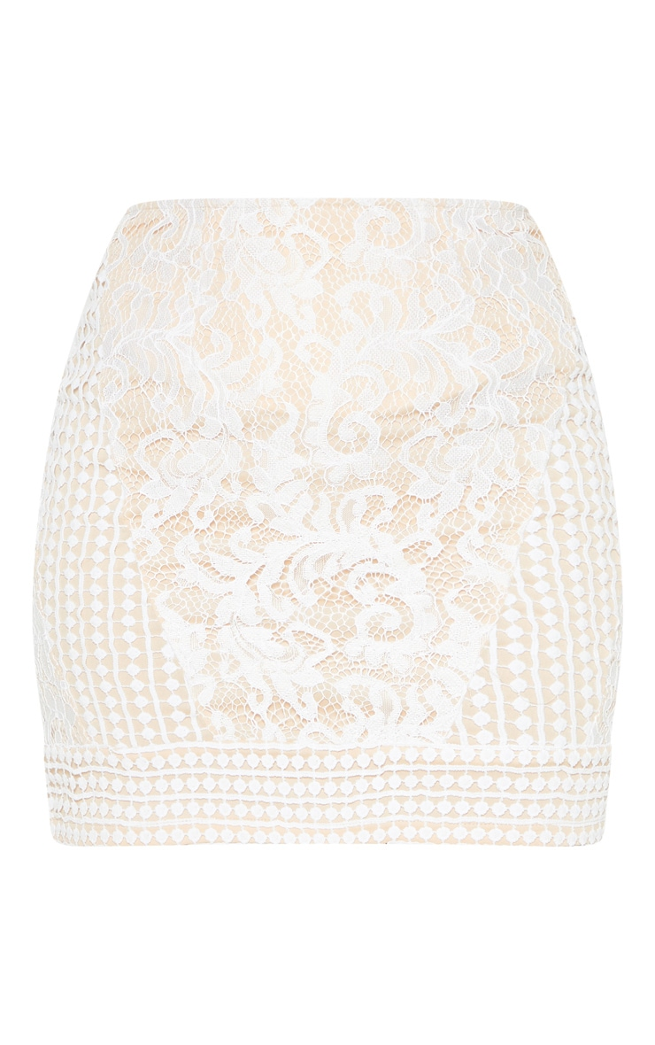 White Lace Mini Skirt 3