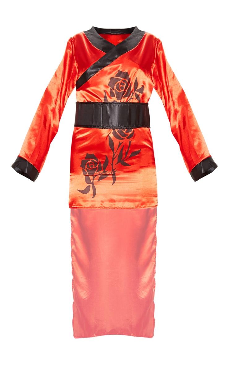 Red Sexy Samurai Costume 3