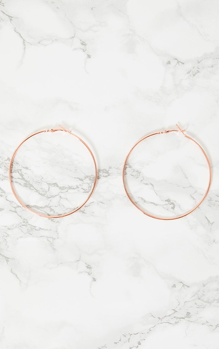 Rose Gold 65mm Hoop Earrings 3