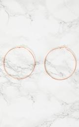 Rose Gold Hoop Earrings 3