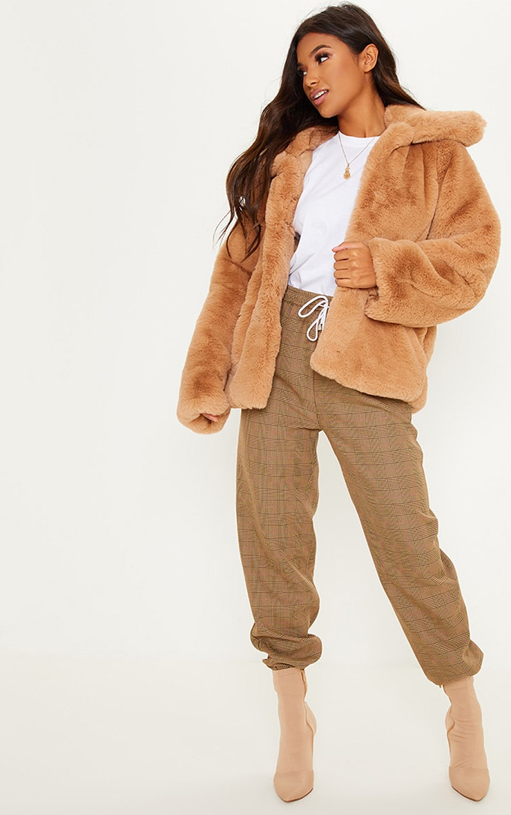 BEIGE FUR JACKET  4