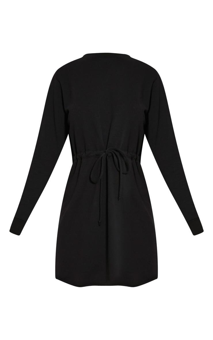 Demmi Black Tie Waist Sweater Dress 3