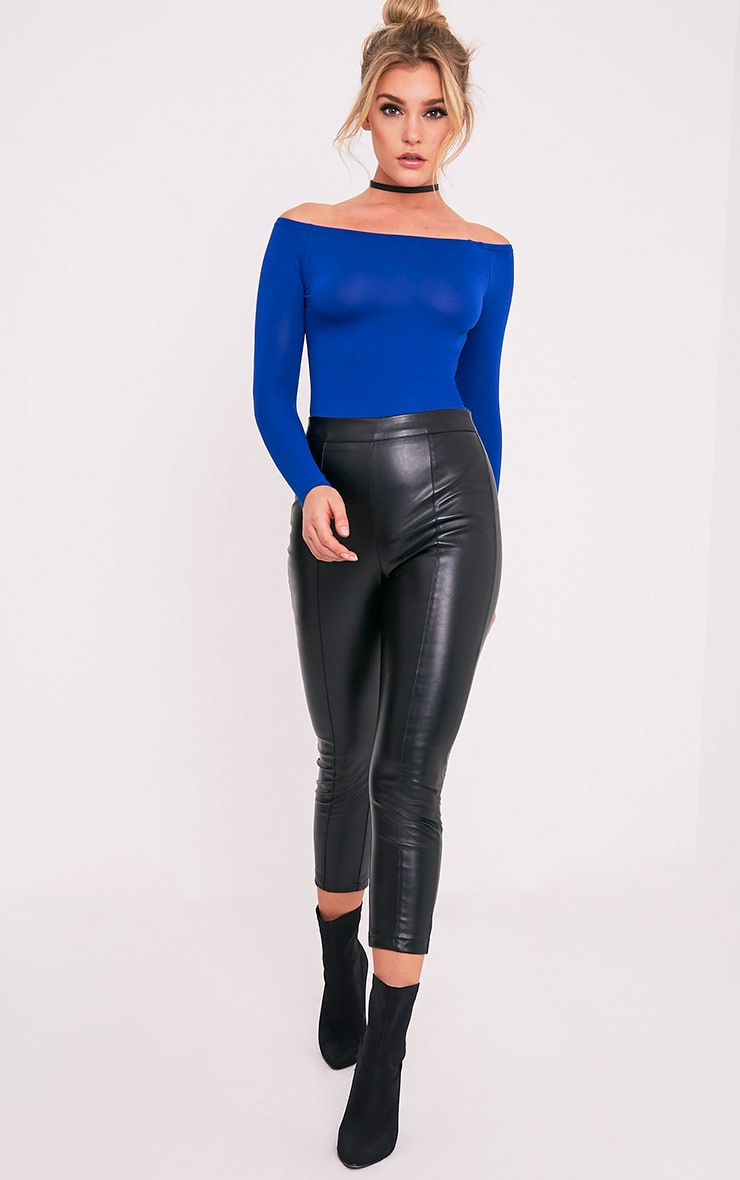 Basic Cobalt Bardot Bodysuit 7