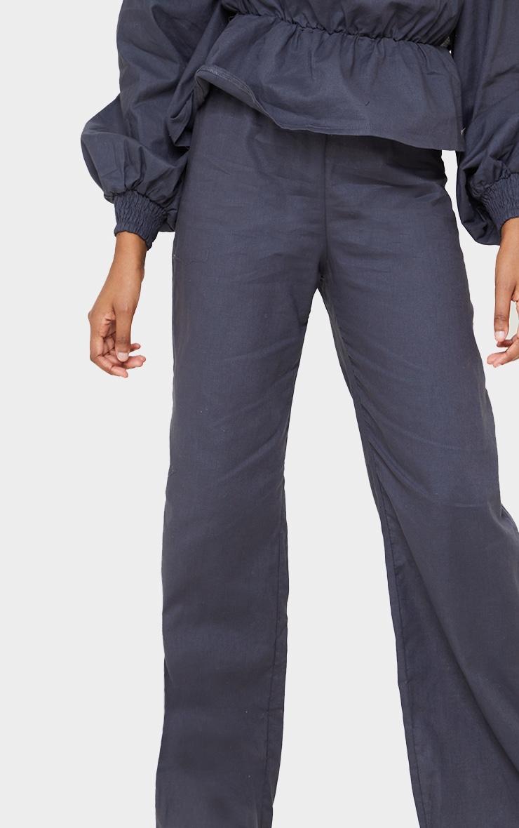 Navy Woven Wide Leg Pants 4