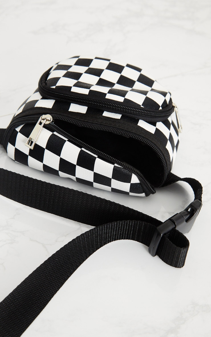 Monochrome Checkerboard Bum Bag 4
