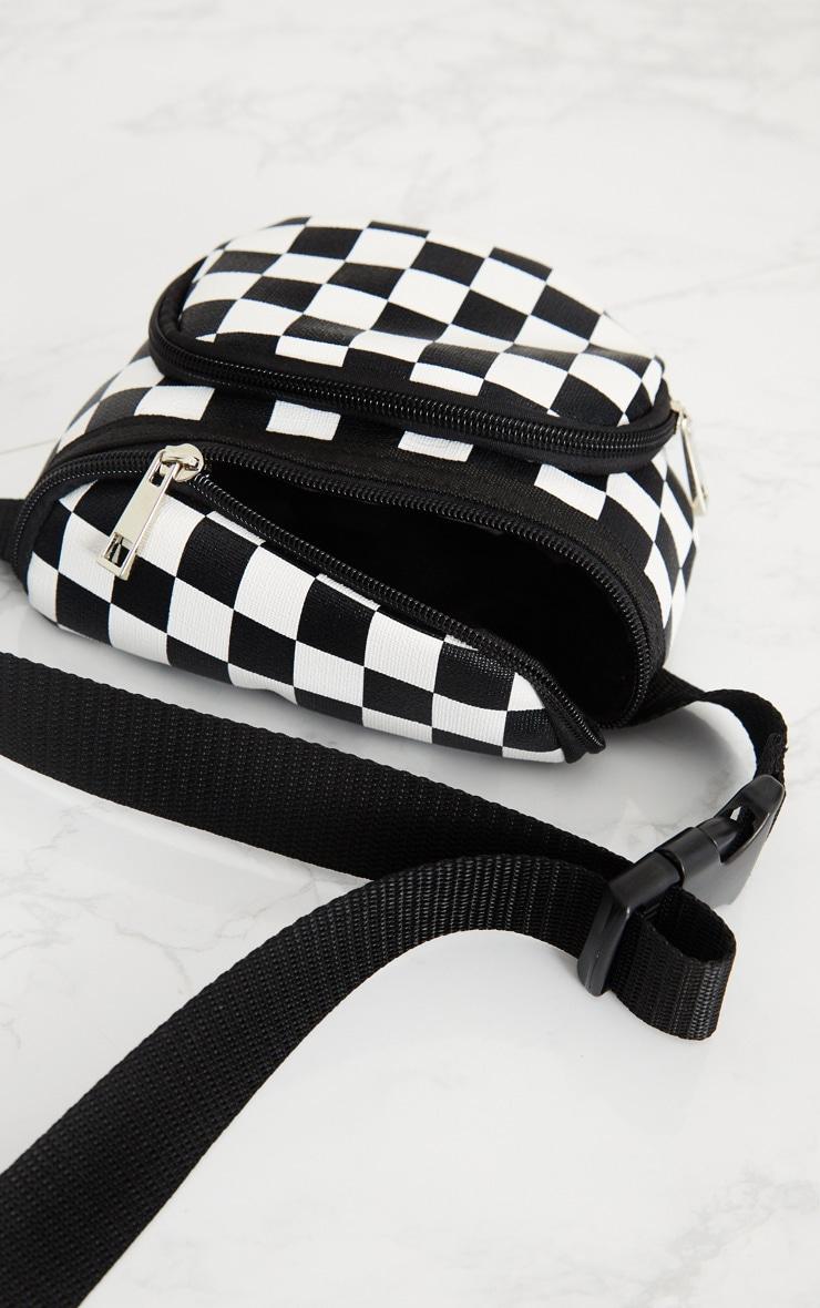Monochrome Checkerboard Bum Bag image 4