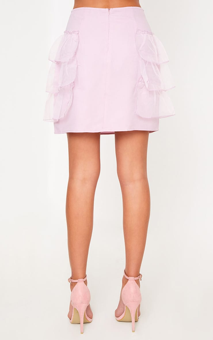 Lilac Tulle Tier Mini Skirt 3