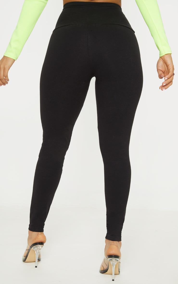 Black Ring Pull Zip Detail Legging 4