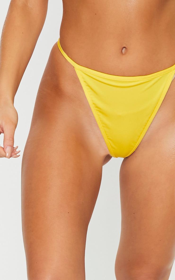 Yellow Mix & Match String Thong Bikini Bottom 5
