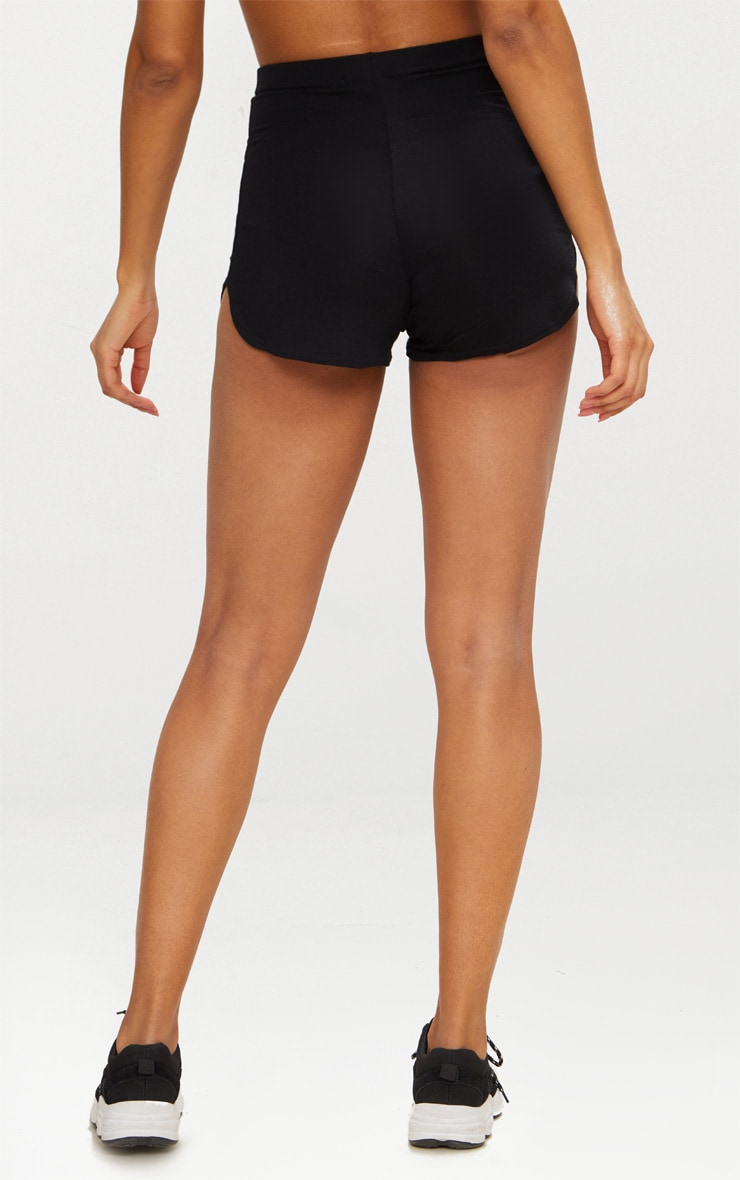 Black Basic Runner Short  3