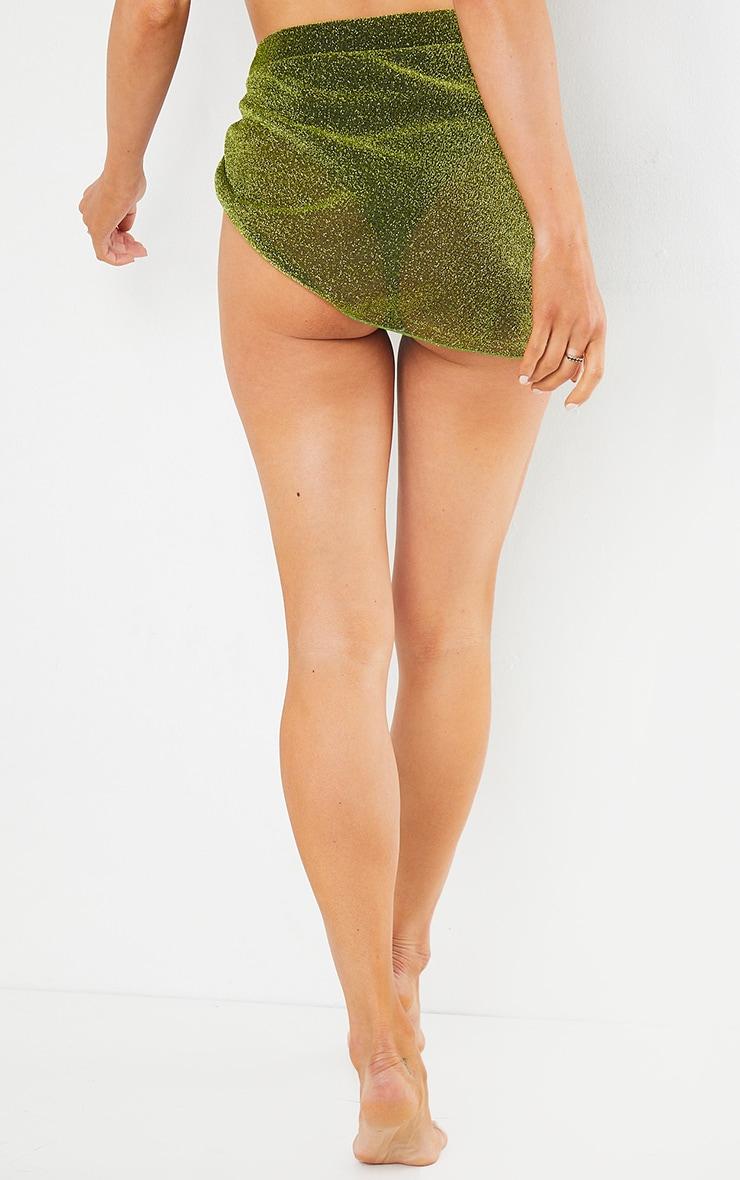 Green Glitter Sarong 4