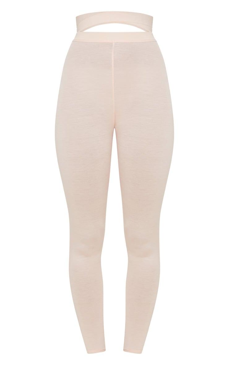 Nude Strappy Waist Leggings 3