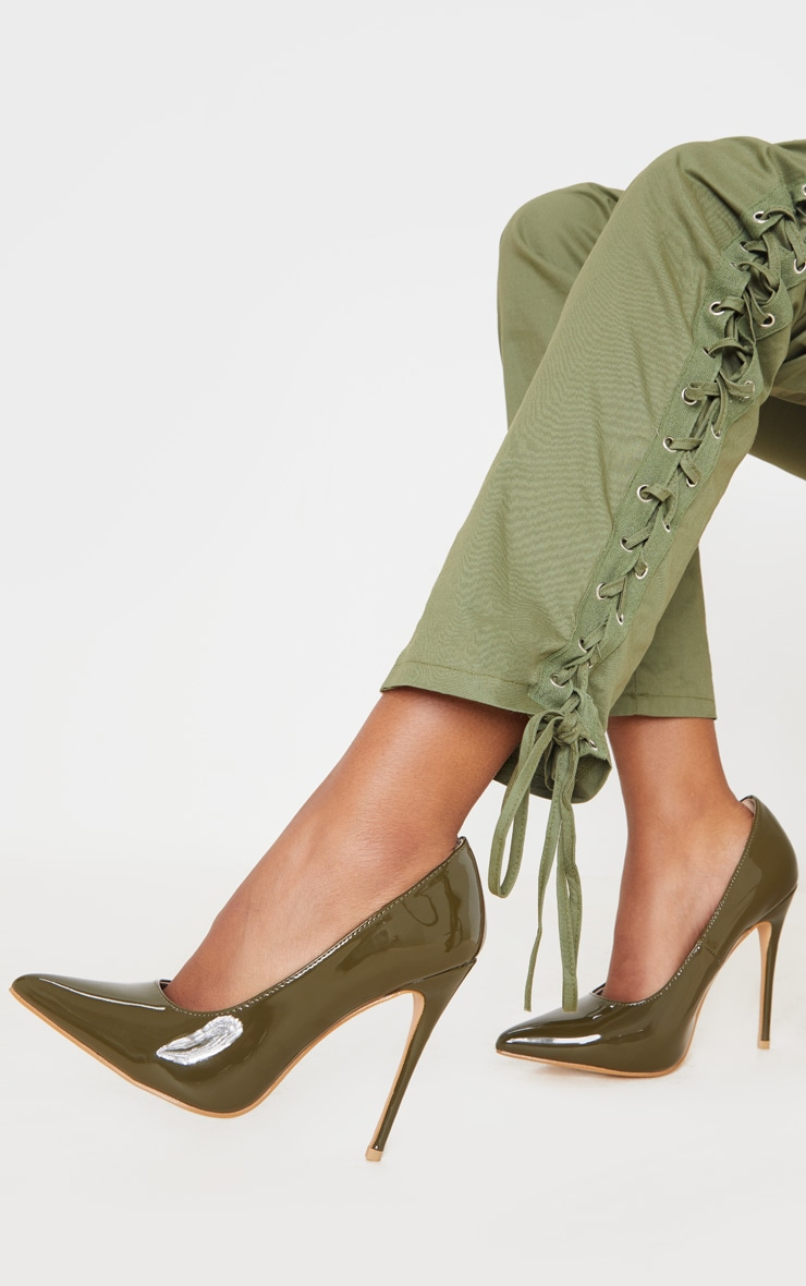 Khaki Court Shoe 1
