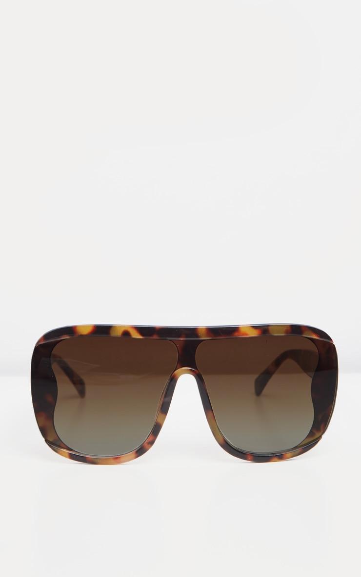 Tortoiseshell Curved Edge Oversized Sunglasses 2