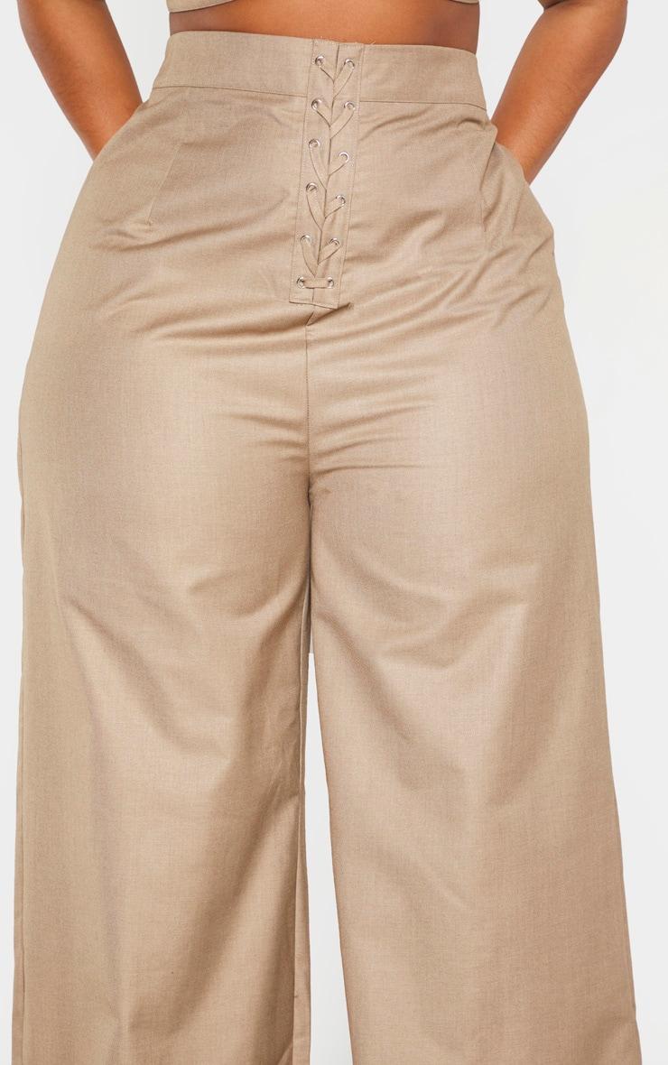 Plus Stone Woven Extreme High Waist Wide Leg Pants 5