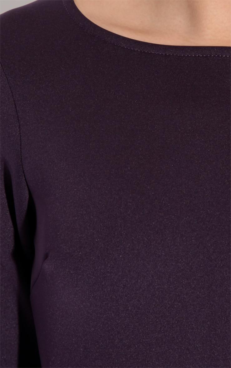Macy Bergundy Bodycon Dress-18 2