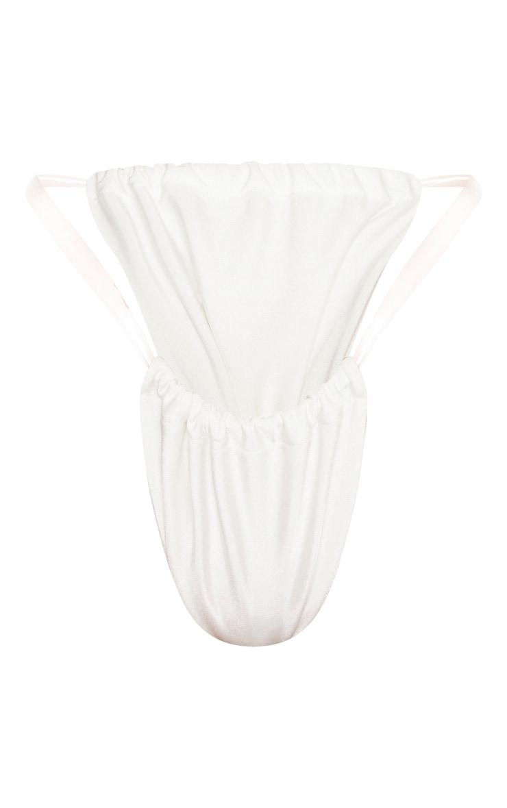White Clear Strap Bikini Bottom 6