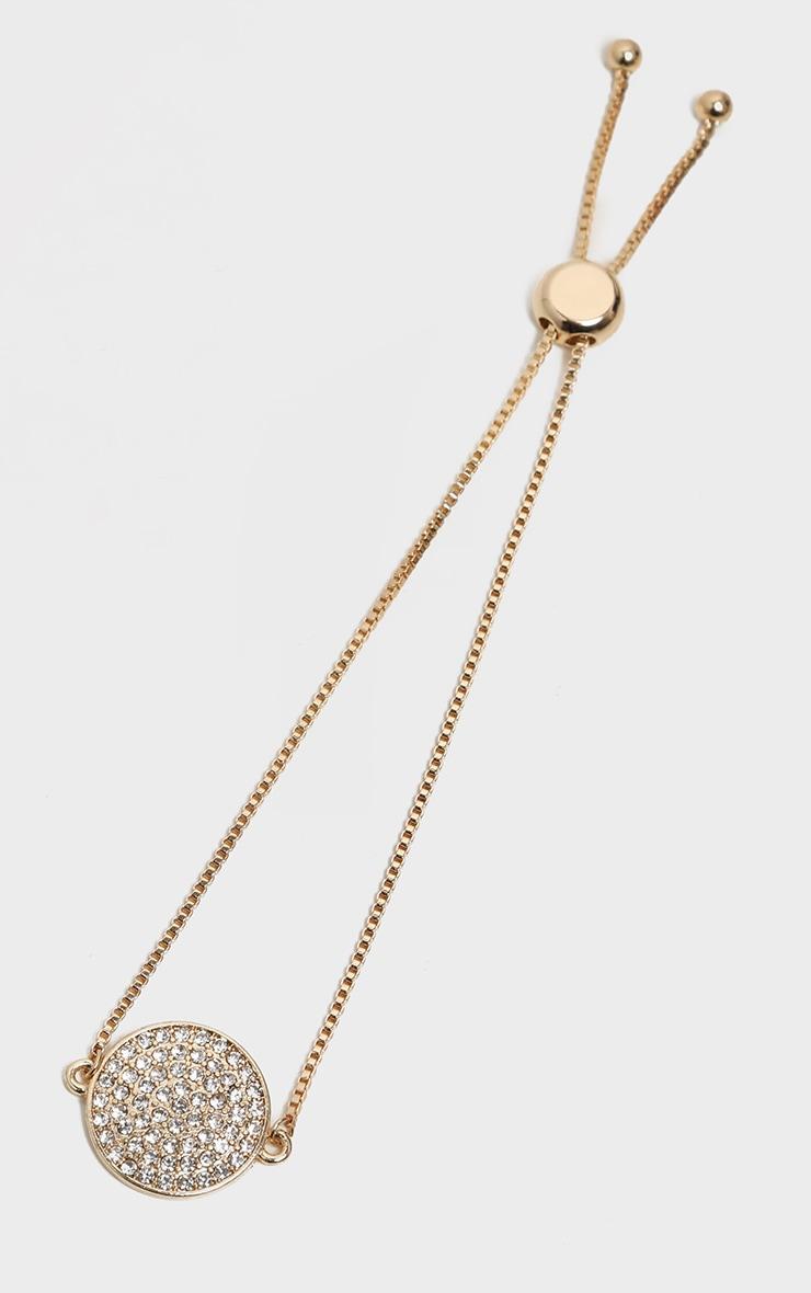 Gold Pave Diamante Friendship Bracelet 3