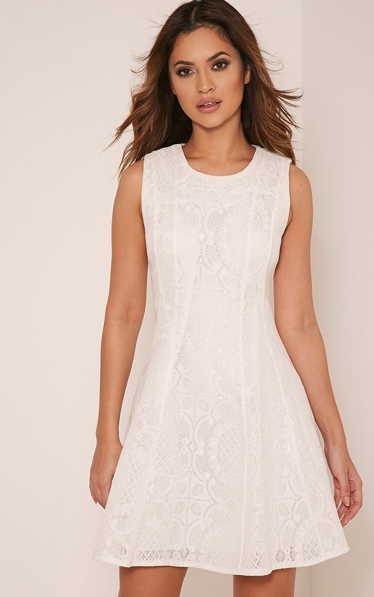 Brianna Cream Baroque Prom Dress | Dresses | PrettyLittleThing USA