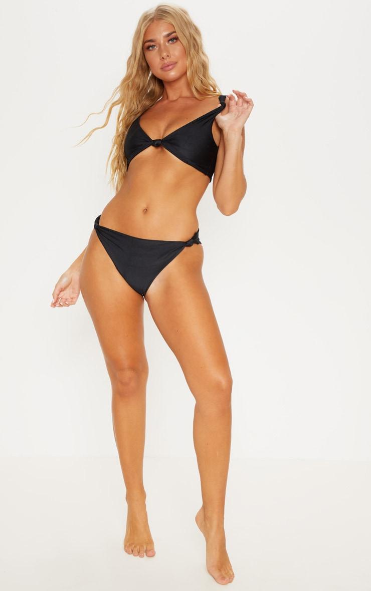 Black Knotted Bikini Bottom 5