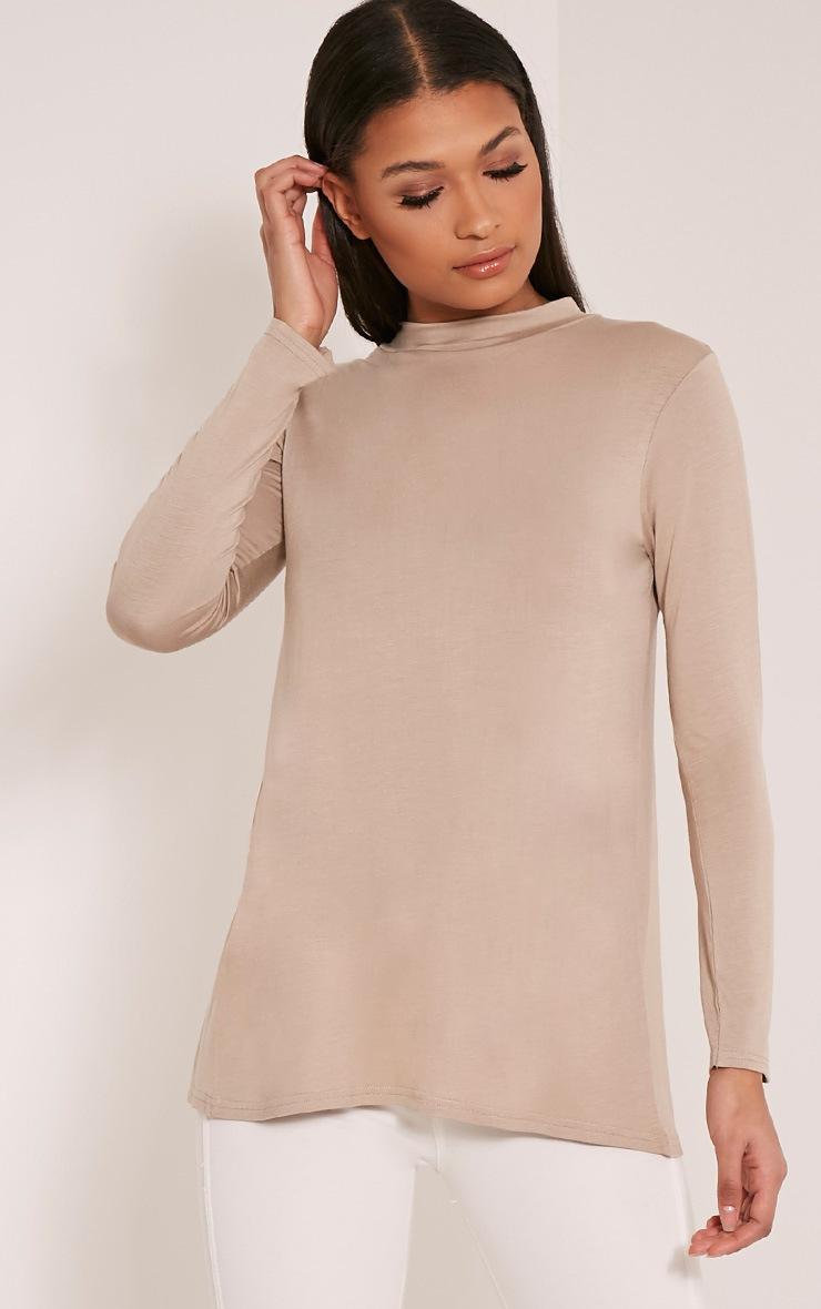 Tanya Stone Split Back Long Sleeve T Shirt 2