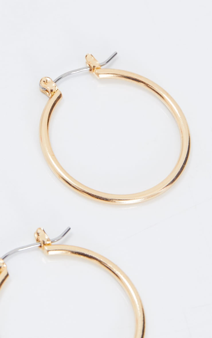 Gold Mini Hoop Earrings 4