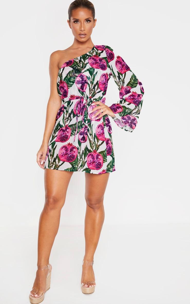 Pink Pomegranate Drawstring Waist Dress 3