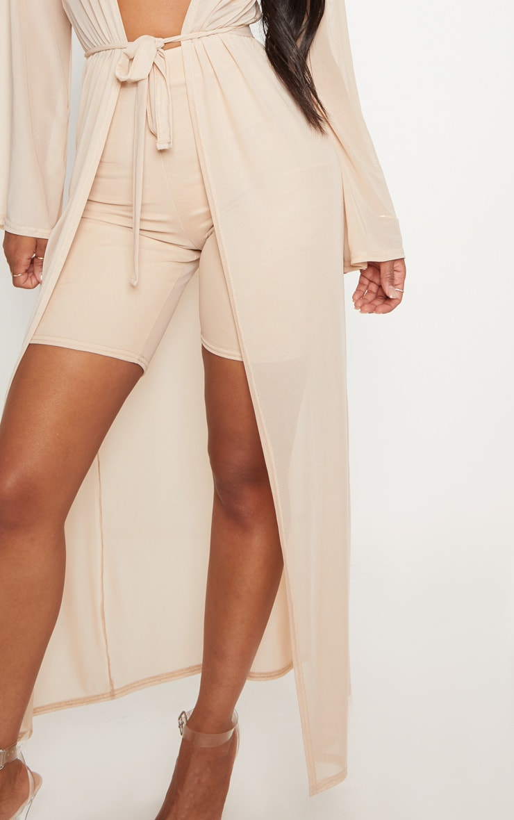 Shape Nude Sheer Mesh Maxi Duster Jacket 5