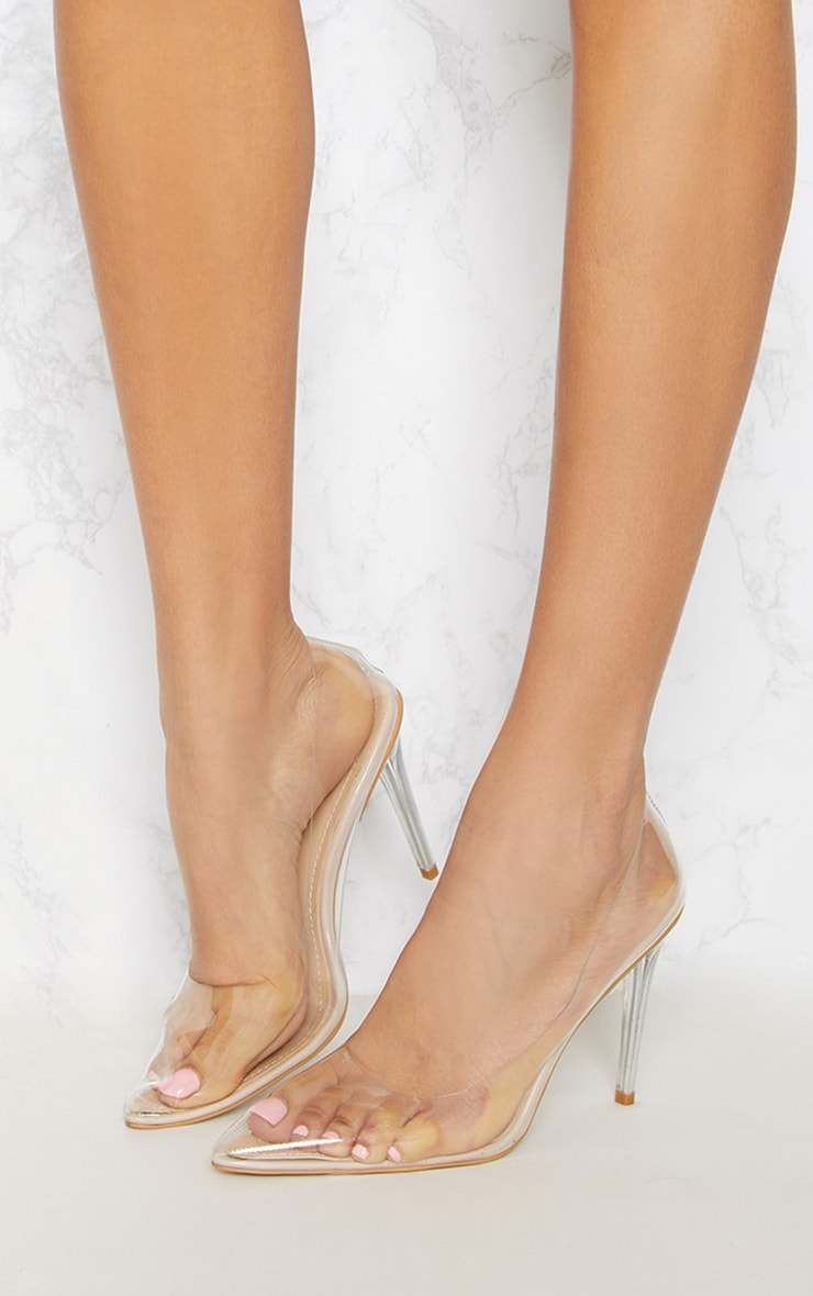 Clear Heeled Court Shoes 2