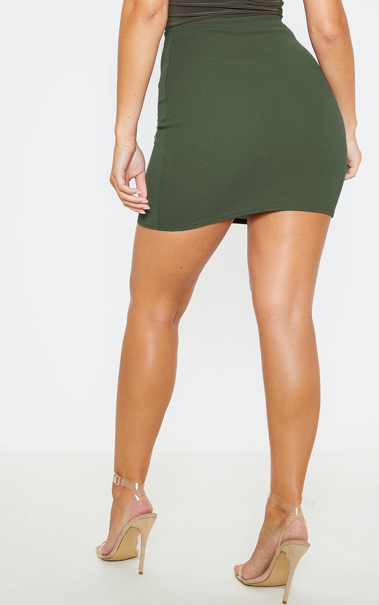 Khaki Mini Suit Skirt 4