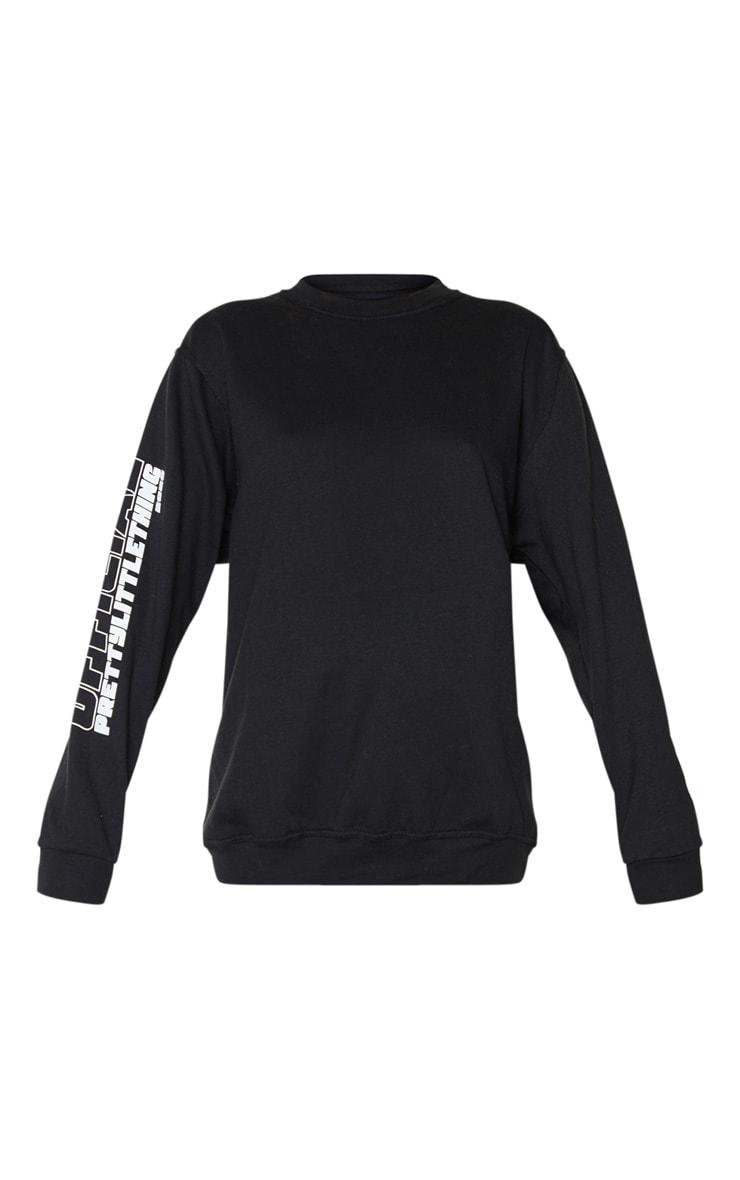 Sweat noir à slogan The Official PrettyLittleThing 2020  3