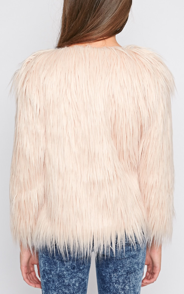 Lily Nude Faux Fur Jacket 2