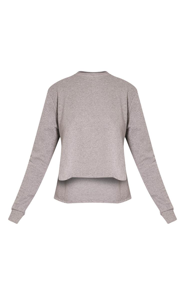 Ellia Grey Split Side Sweater 3