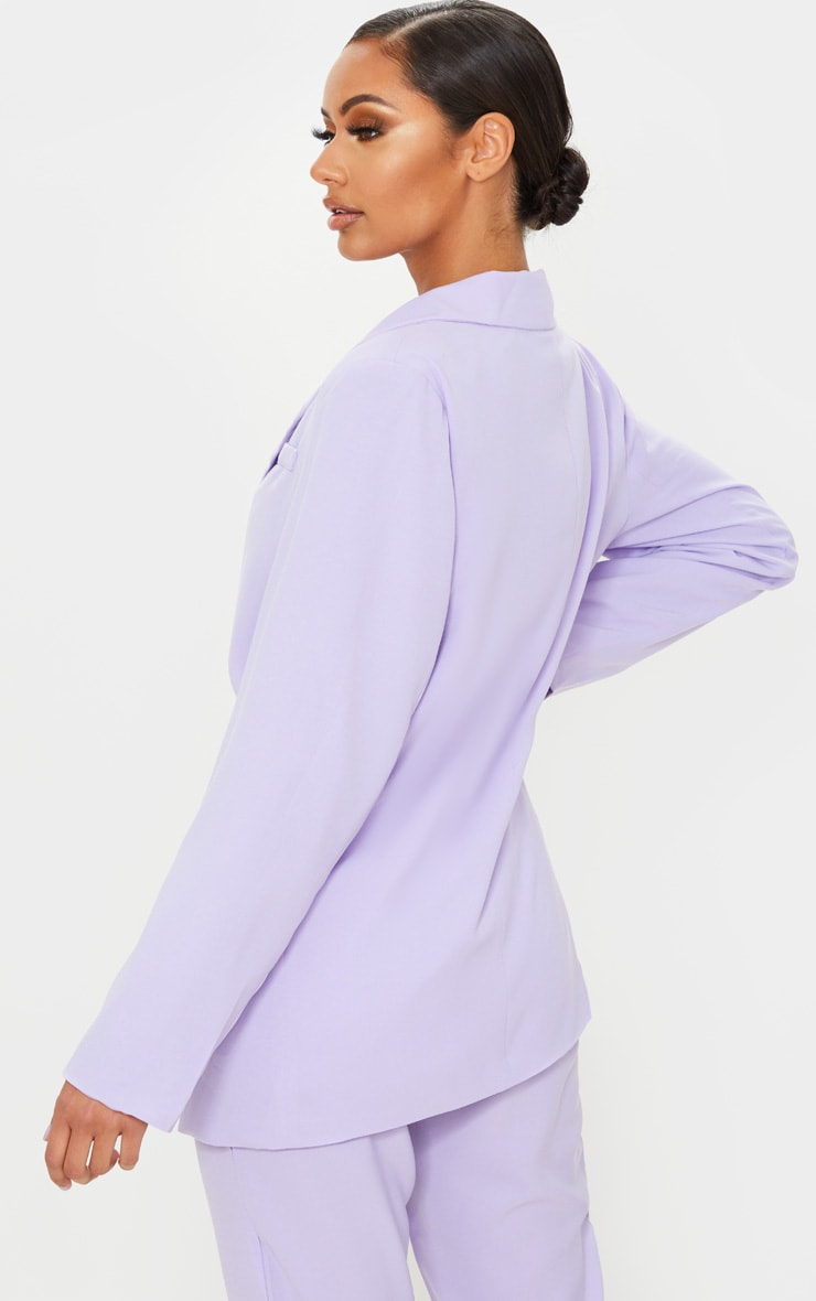 Lilac Tailored Woven Blazer 2