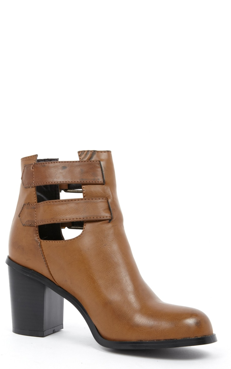 Corin Tan Leather Cut Out Boots  2