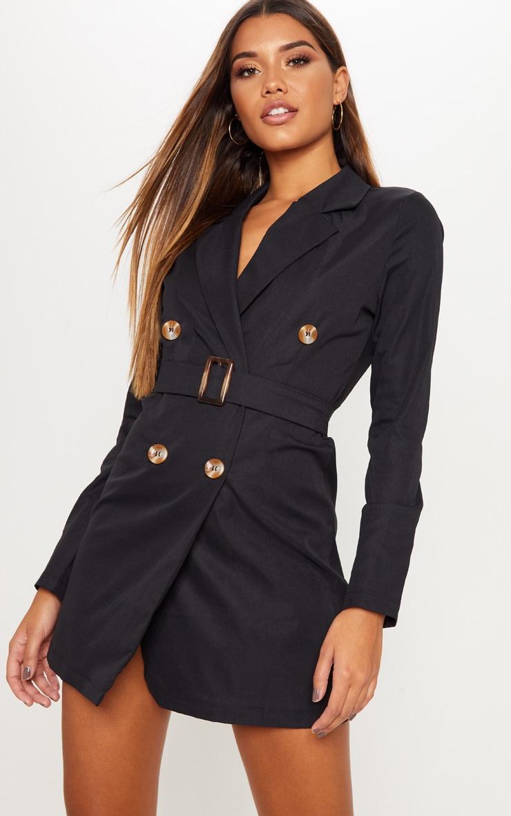 384fc004dcb9 Black Belted Blazer Dress | Dresses | PrettyLittleThing USA