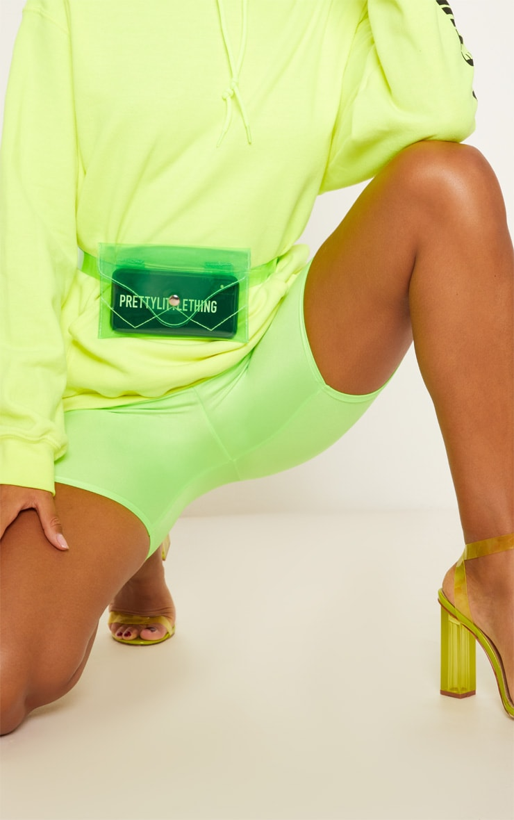 Green Clear Acrylic Fanny Pack 1