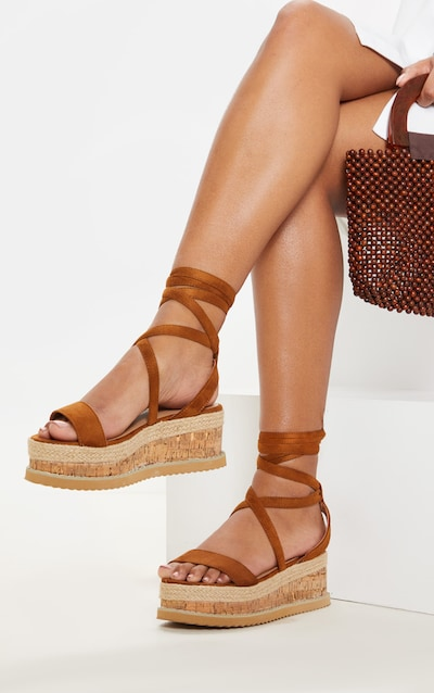 5b88217f84dd Tan Niella Espadrille Flatform Sandals. More colours available