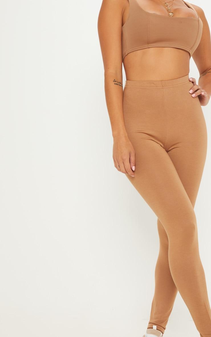 Petite Clarinda Camel Basic Leggings 5