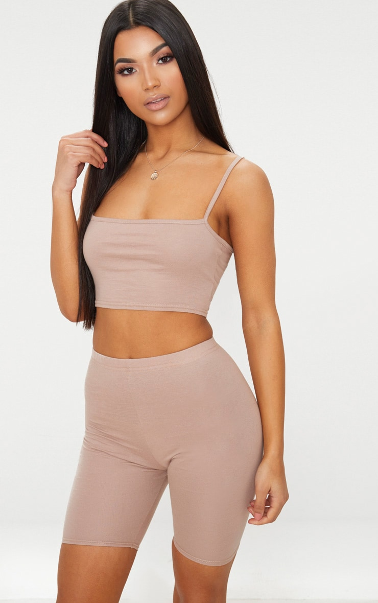 Taupe Cycling Shorts 1