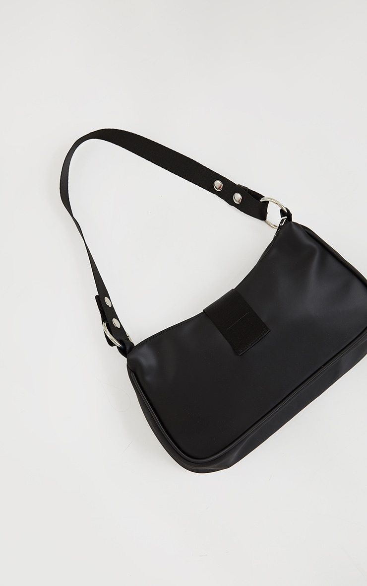 Black Buckle Up Shoulder Bag 2