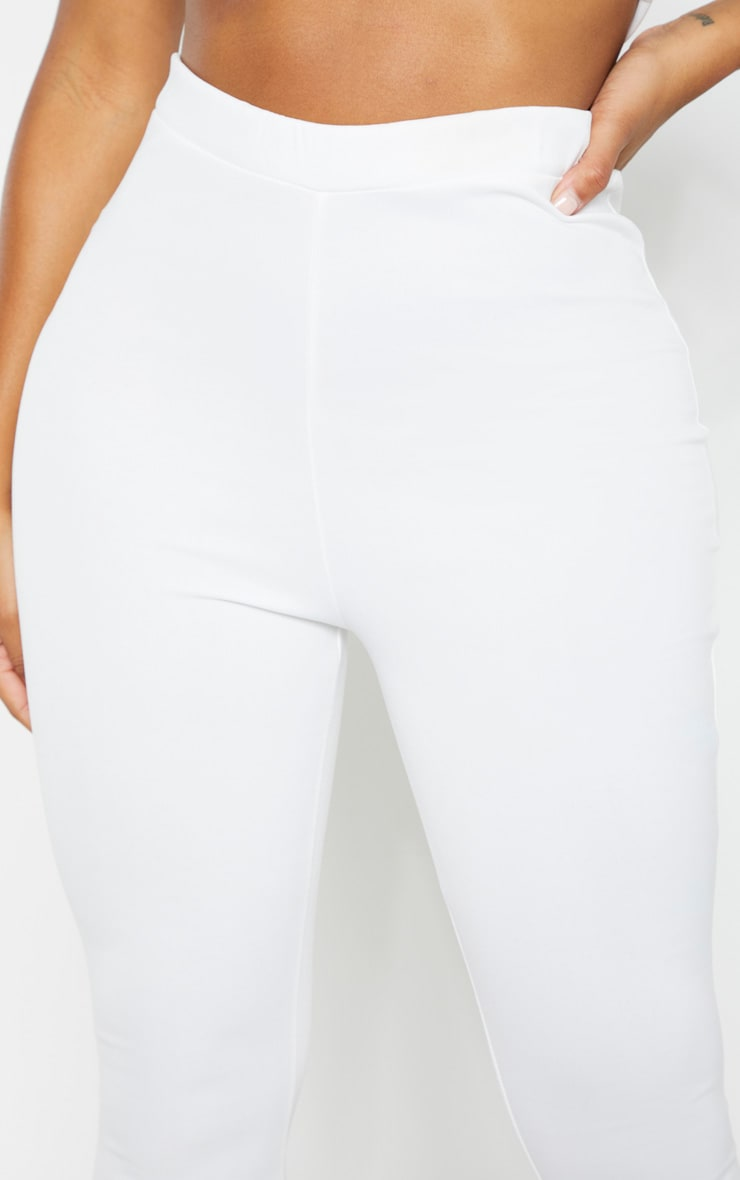 Shape White High Waisted Flared Trouser 5