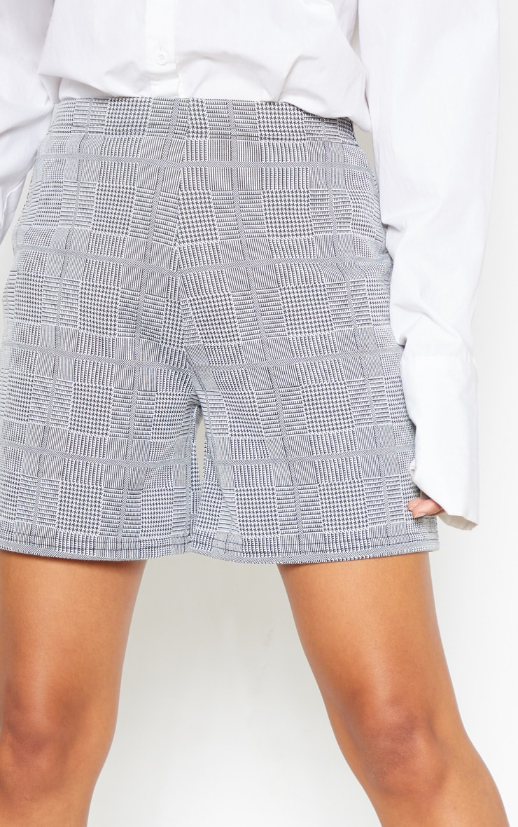 Grey Check Tailored Short 6